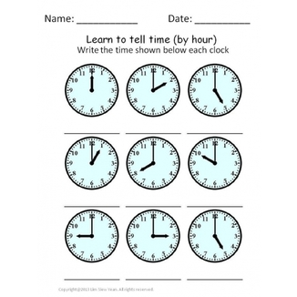 Clock worksheets. Telling time worksheets. - Creating ...