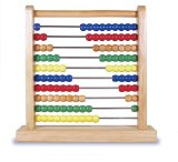 wooden abacus math manipulatives to teach counting