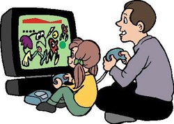parents playing video games with kids