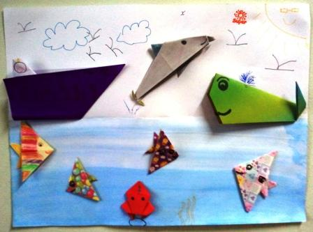 Paper Origami With Ocean Theme
