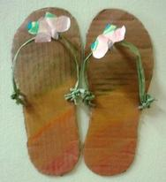 house slipper paper craft
