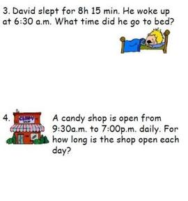 solve time story word problems