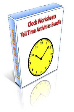 clock worksheets and tell time printables pack