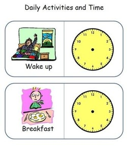 time worksheets on daily activities for kids