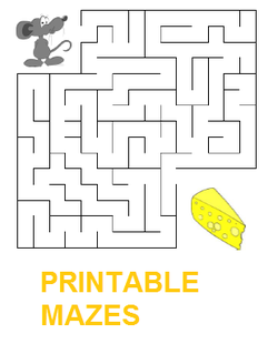 printable mazes to develop kids' mental skills