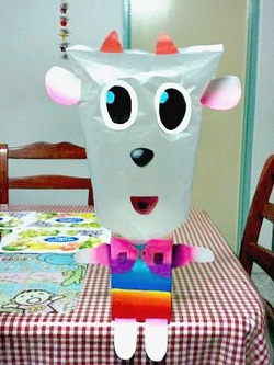 recycled crafts for kids using cereal box and plastic bag